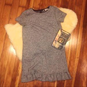 Loft Women's Tweed Dress Flared Soft Stretchy